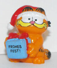 Christmas Garfield Holding Gift Figurine