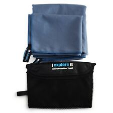 NEW Microfiber Beach Sports Yoga XL Towel w/Free Hand Towel Absorbent Quick Dry
