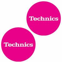 Technics 60654 Paar Antirutschmatte Einfach T5 : Weiß Auf Pink Original/Brandneu