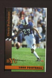 Brigham Young Cougars--Owen Pochman--1999 Football Pocket Schedule--LaQuinta Inn