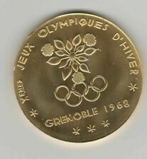 Winner medal   X.Olympic W.Games GRENOBLE 1968 - Gold platet  !!  VERY RARE