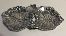 Vtg Arthur Court Frogs On Water Lily Pads Double Serving Tray 1994