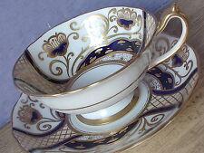 Antique 1920's Star Paragon blue gold & white art deco bone china Tea Cup teacup