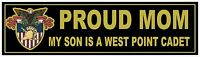 UNITED STATES MILITARY ACADEMY West Point Cadet Proud MOM Decal Bumper Sticker