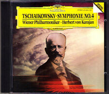 Herbert von KARAJAN: TCHAIKOVSKY Symphony No.4 DG CD 1985 Wiener Philharmoniker