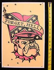 093 Confederate Bulldog USMC vintage Sailor Jerry Traditional style Flash poster