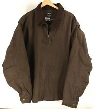 Mens Brown Lakin McKey Trading Co. Thick Insulated Work Coat - Size 3XLR