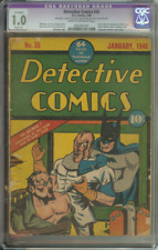 DETECTIVE COMICS #35 CGC 1.0 CR/OW PAGES R // CLASSIC BATMAN HYPODERMIC NEEDLE