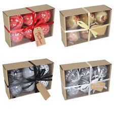 Box of 6 Christmas Polyfoam 75mm Baubles - Choose Design