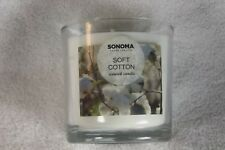 Sonoma 14 Ounce 3 wick candle, Soft cotton Scent