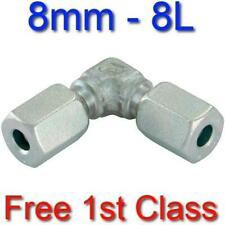 8L EQUAL ELBOW HYDRAULIC COMPRESSION FITTING/COUPLING TUBE PIPE JOINER 8mm