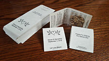 "50 Personalized Wedding Matchbook Style Seed Candy DIY Favor Covers 2.25""x2.125"""
