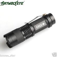 2000LM Mini CREE Q5 LED Taschenlampe Torch 7W Einstellbarer Fokus Zoom Lampen