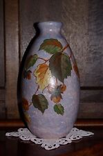 "Vintage Art Deco Large 14"" Handpainted Signed Vase A. Dubois Belgium"