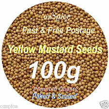 Yellow Mustard Seeds 100g  Herbs & Spices -  ozSpice