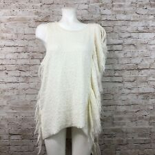 NWT Free People Treat Me Tender Women's Ivory Top Size Large $128