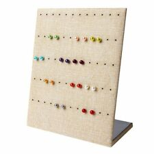 Earring Organizer Hanging Linen Holder Ear Studs Show Jewelry Display Stand Rack