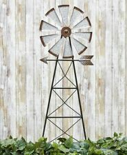 4 Ft. Country Rustic Farmhouse Windmill Metal Stake Spinner Garden Yard Decor
