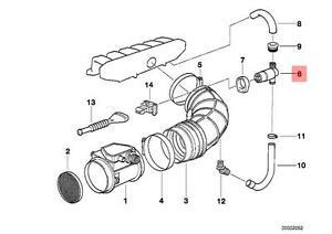 Genuine BMW E34 E36 E38 Fuel Injection Idle Air Control Valve OEM 13411744713