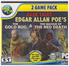 PC Big Fish 2 Game Pack DVD Edgar Allan Poe's Gold Bug Masque Red Death Hidden