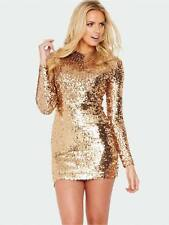 ICONIC BNWT 12 FRENCH CONNECTION GOLD BRONZE FAST LUST SEQUIN BODYCON DRESS