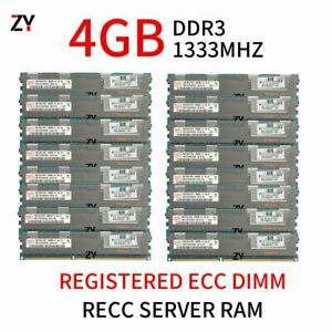 64GB 32GB 16GB 8GB 4GB DDR3 PC3-10600R 2RX4 REG ECC Server Memory For Hynix LOT