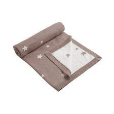 Mamas & Papas Millie & Boris Reversible Star Knit Blanket - Taupe!
