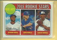 Richard Urena RC  2018 Topps Heritage Rookie Stars Card # 379 Toronto Blue Jays