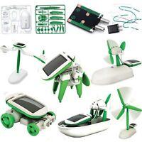 Creative Educational Solar Kit 6 in 1 DIY Boat Plane Fan Puppy Car Robot Kit Toy