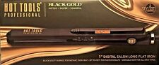 "HOT TOOLS BLACK GOLD™ XL PLATES FLAT IRON 120V/220V DIGITAL 1"" 455 F  HT7118BG"