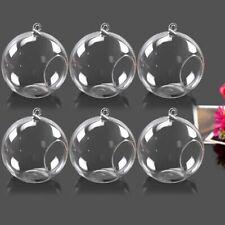 "6 Pack Hanging Glass Terrarium Round Globe Ball Air Plant Planter Flower Vase 3"""