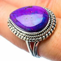 Purple Copper Turquoise 925 Sterling Silver Ring Size 8 Ana Co Jewelry R27315F