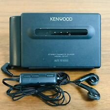 Kenwood CP-D7 Black Portable Stereo Cassette Player With Remote and Battery Case