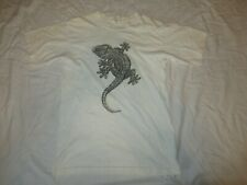 Vintage DEL SOL Lizard Print Double Sided T-Shirt mens size Medium made in USA
