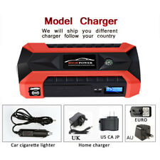New 89800mAh Car Jump Starter Pack Booster LCD 4 USB Charger Battery Power Bank