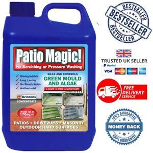 Patio Magic Ideal for Patios Paths Driveways Kills Algae Lichens Free Delivery