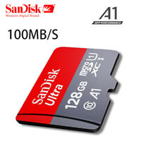 SanDisk ULTRA micro SD Speicherkarte 16GB 128GB A1 100MB/S Schnell + SDAdapter
