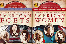2 Foundations of America CDs - Great American Women & American Poets - 2 CD Set