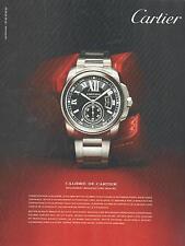 ▬► PUBLICITE ADVERTISING AD Montre watch CARTIER Calibre 1904 MC