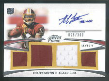 2012 Topps Prime Level V Robert Griffin III Quad Jersey Autograph RC #028/300