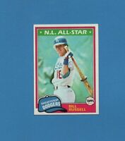 1981 Topps Bill Russell All-Star Baseball Card #465 Los Angeles Dodgers