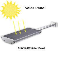 Solar 70 LED Motion Sensor Light Outdoor Garden Path Street Wall Lamp