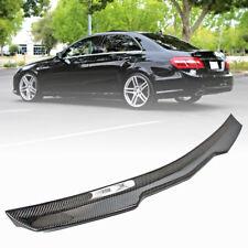 Real Carbon Fiber For Mercedes BENZ E-Class W212 Sedan V Look Rear Trunk Spoiler