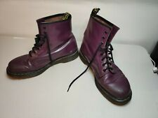 Dr Martens Patent Leather Purple 8 Hole Boots UK Size 12 Airwair Soles