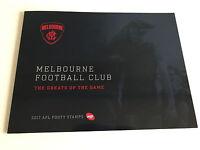 Brand New Mint Condition Melbourne FC AFL Collector 2017 Souvenir Stamp Folder