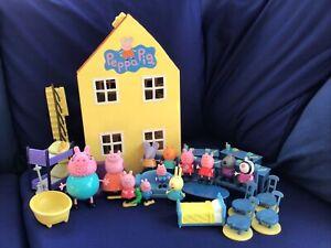 Pepper Pig House Lot. Figures & Accessories House & School Furniture Bundle Mix