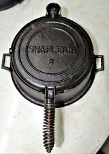 Antique Shapleigh Hardware Co no 8 (Stover-made) Cast Iron Waffle Maker w Base