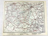 1902 Ancien Chemin de Fer Carte Budapest Hongrie Austro Hongrois Empire Railroad