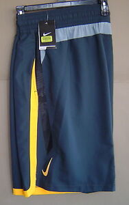 """NWT $64 NIKE SWIM 2XLT COLOR SURGE BEACON 12"""" VOLLEY SHORT Grey NESS6397 013"""