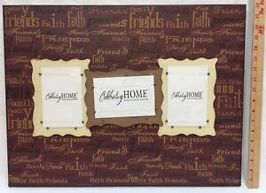 "Photo Frames Wall Decor Celebrating Home Faith Family Friends 23"" x 18"""